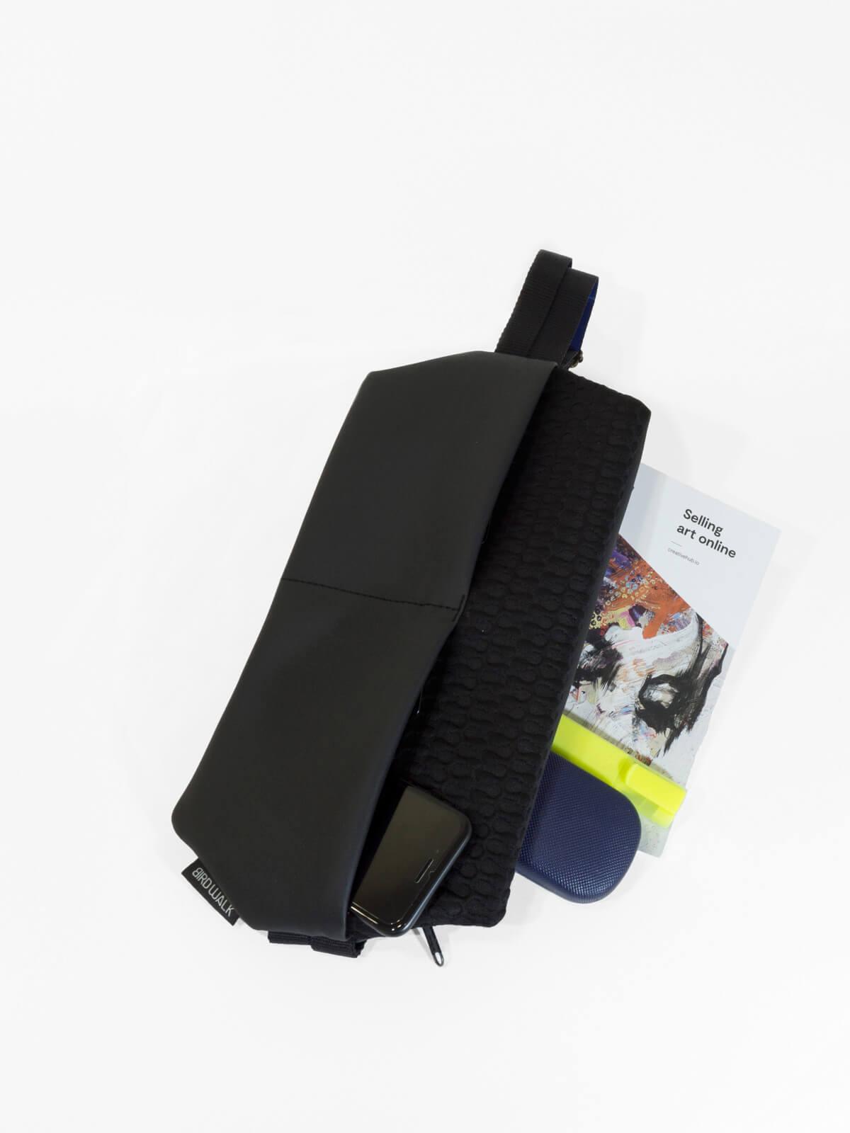 birdwalk slim backpack shoulder bag black