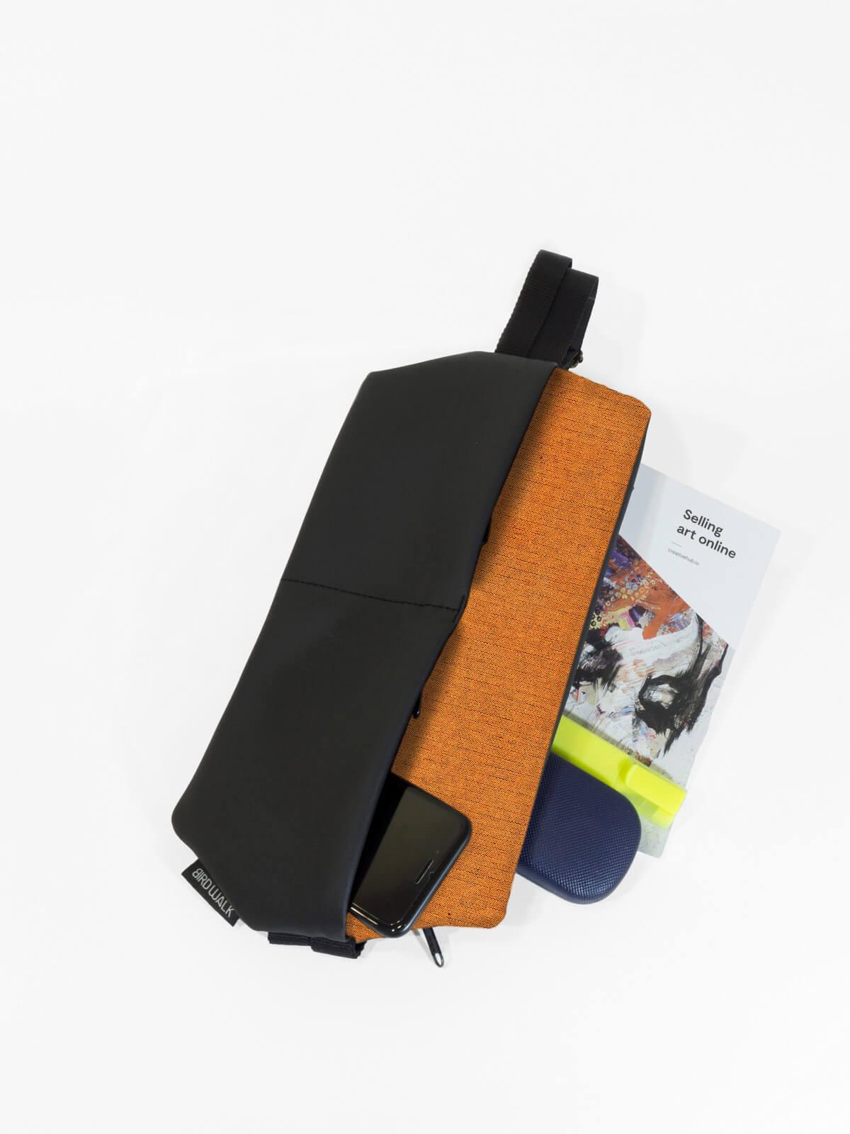 birdwalk slim backpack shoulder bag orange04